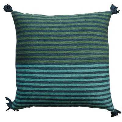 Lamlam Square Striped Wool Kilim Throw Pillow - AllModern