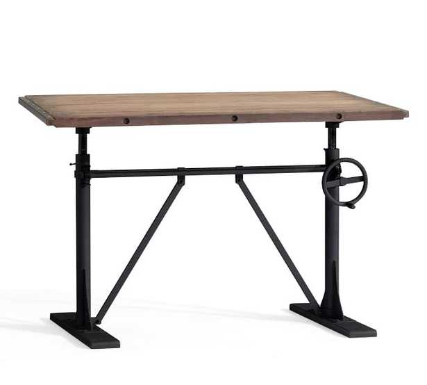Pittsburgh Crank Sit-Stand Desk, Washed Pine - Pottery Barn
