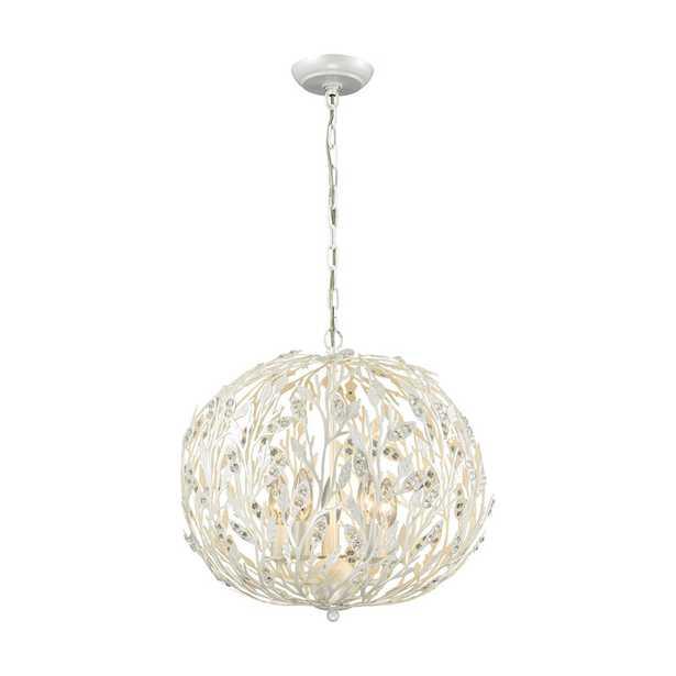 Trella 5 Light Chandelier In Pearl White - Rosen Studio