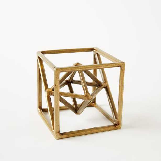 Symmetry Object, Octahedron, Gold - West Elm