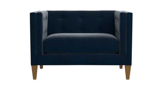 Aidan Velvet Chair - Crate and Barrel