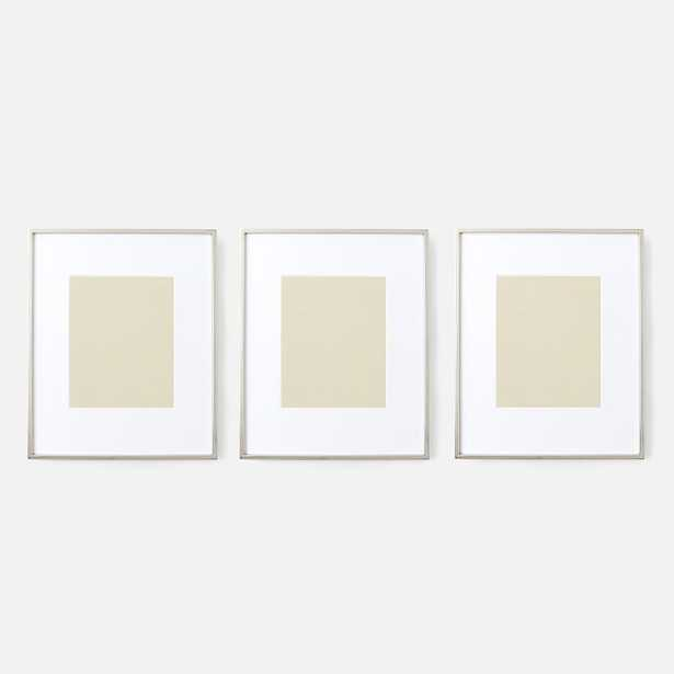 """Gallery Frame, Polished Nickel, 8"""" x 10"""" (12.75"""" x 15.75"""" without mat) - Set of 3 - West Elm"""