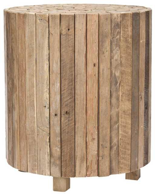 Richmond Round End Table Medium Oak - Arlo Home