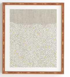 "Pebbles Framed Artwork - 11""x13"" - Bamboo Frame - Wander Print Co."
