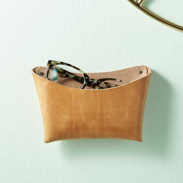 Wide Leather Wall Pocket - CB2