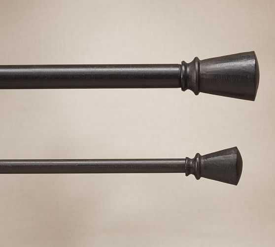"Cast Iron Curtain Rod & Wall Bracket-- 1.25"" Diameter Rod - Pottery Barn"