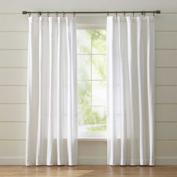 """Wallace 52""""x96"""" White Curtain Panel - Crate and Barrel"""