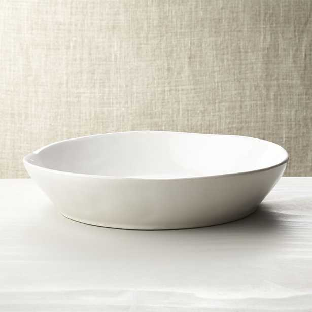 """Marin White Centerpiece Bowl 13.5"""" D - Crate and Barrel"""