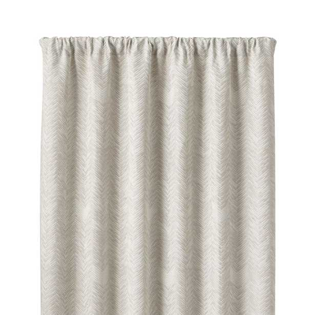 """Dover Cream/Taupe 50""""x84"""" Curtain Panel - Crate and Barrel"""