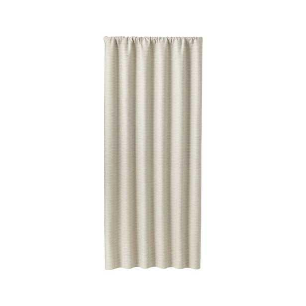 "Desmond Silver/Cream 50""x84"" Curtain Panel - Crate and Barrel"