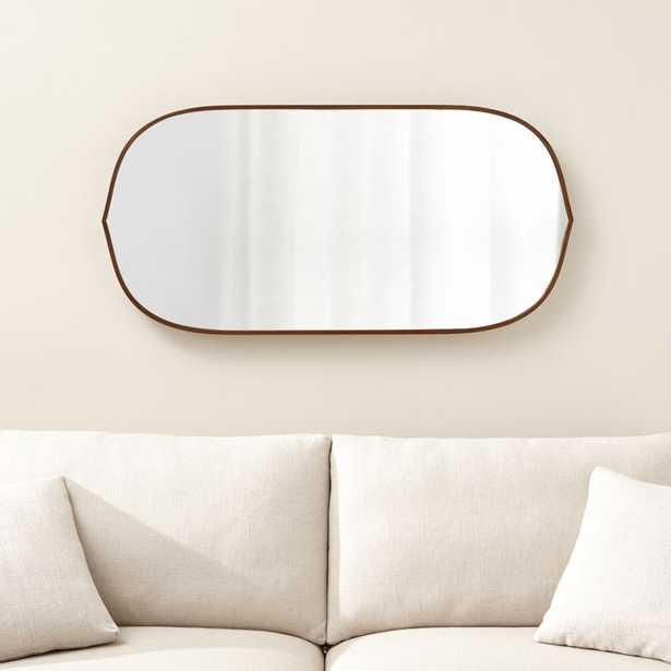Penarth Walnut Oval Wall Mirror - Crate and Barrel