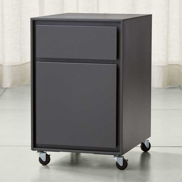Pilsen Graphite Two Drawer File Cabinet - Crate and Barrel