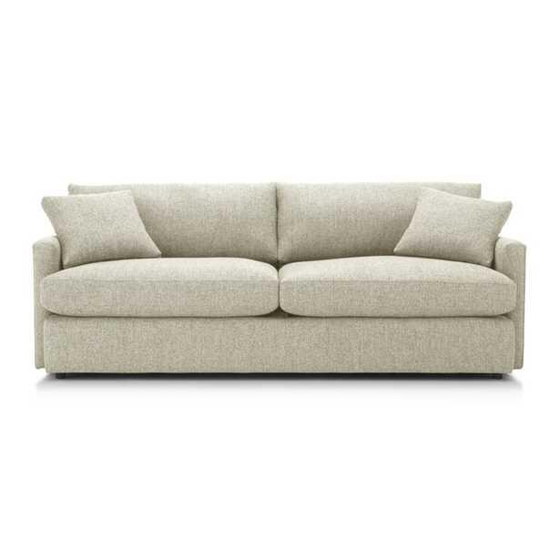 "Lounge II Petite 93"" Sofa, Taft Cement - Crate and Barrel"