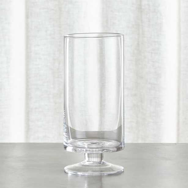 London Narrow Clear Hurricane Candle Holder - Crate and Barrel