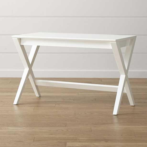 "Spotlight White 48"" Writing Desk - Crate and Barrel"