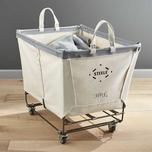 Steele Rolling Laundry Basket - Crate and Barrel