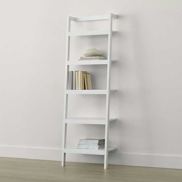 """Sawyer White Leaning 24.5"""" Bookcase - Crate and Barrel"""
