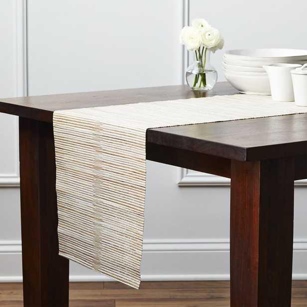 "Hyacinth Metallic 120"" Table Runner - Crate and Barrel"