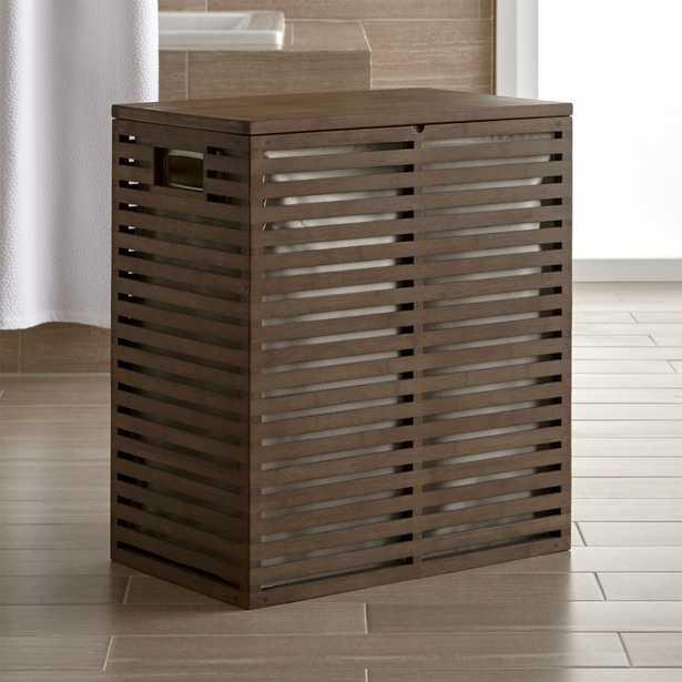 Dixon Bamboo Hamper with Liner - Crate and Barrel