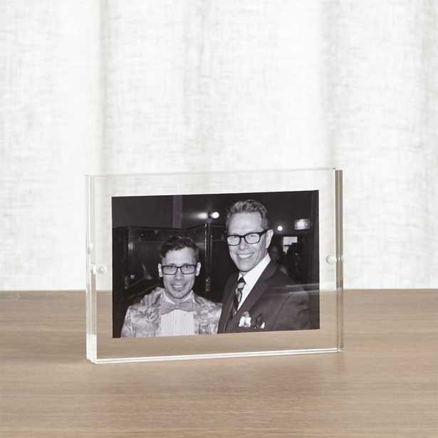 Acrylic 4x6 Block Picture Frame - Crate and Barrel