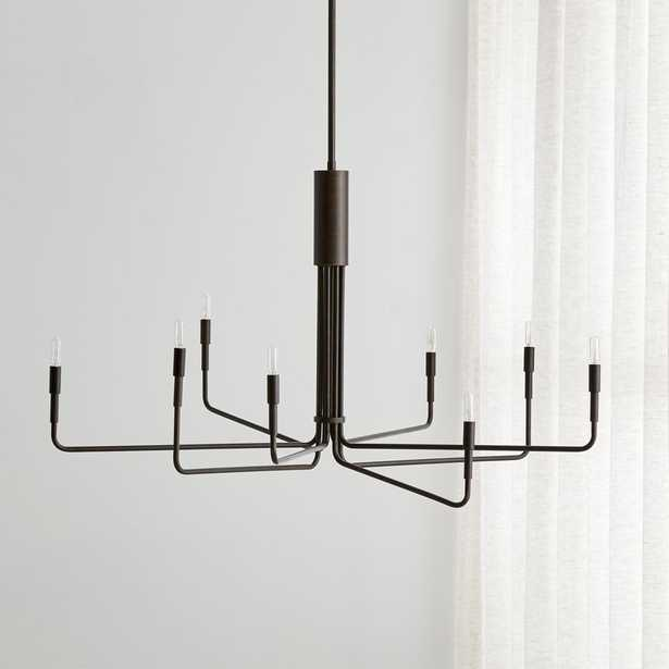 Clive 8-Arm Bronze Chandelier RESTOCK mid May 2021 - Crate and Barrel