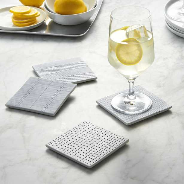 Set of 4 Linea Tile Coasters - Crate and Barrel