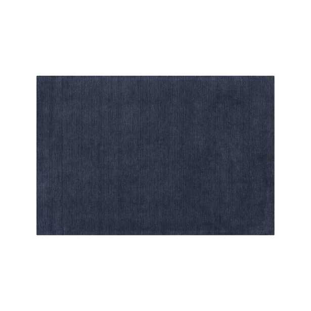Baxter Indigo Blue Wool 8'x10' Rug - Crate and Barrel