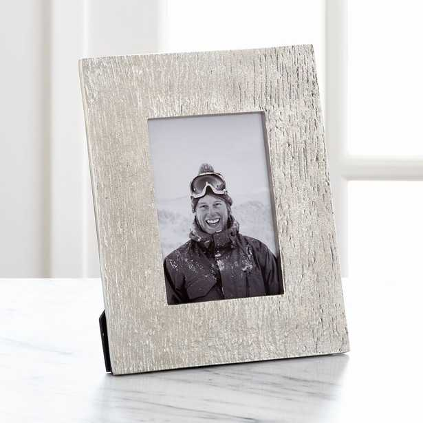 """Silver Bark 4""""x6"""" Picture Frame - Crate and Barrel"""