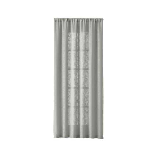 """Lindstrom 48""""x96"""" Grey Curtain Panel - Crate and Barrel"""