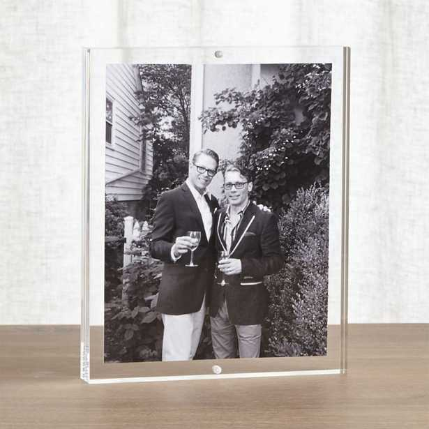 Acrylic 8x10 Block Picture Frame - Crate and Barrel