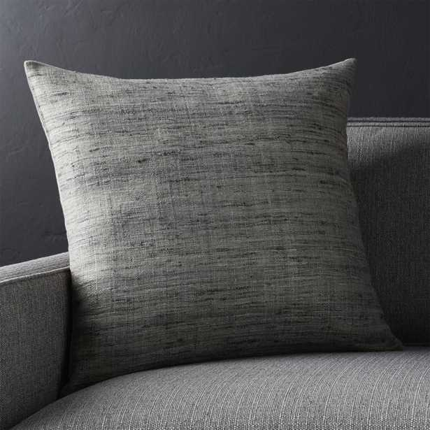 """Trevino Nickel Grey 20""""l Pillow with Down-Alternative Insert - Crate and Barrel"""