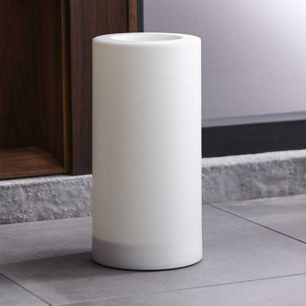 """Outdoor 6""""x12"""" Pillar Candle with Timer - Crate and Barrel"""