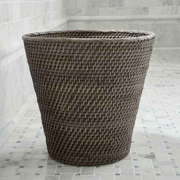 Sedona Grey Tapered Waste Basket/Trash Can - Crate and Barrel