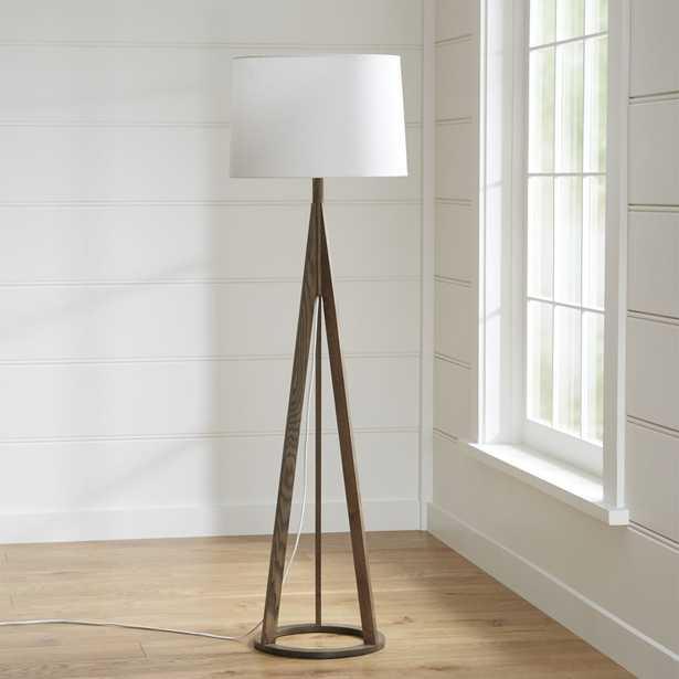 Jackson Dark Brown Tripod Floor Lamp - Crate and Barrel