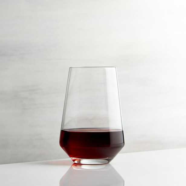 Tour Stemless Wine Glass - Crate and Barrel