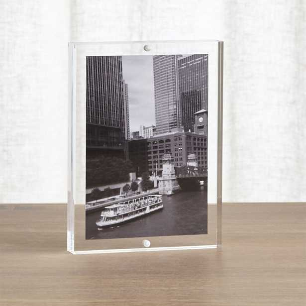Acrylic 5x7 Block Picture Frame - Crate and Barrel