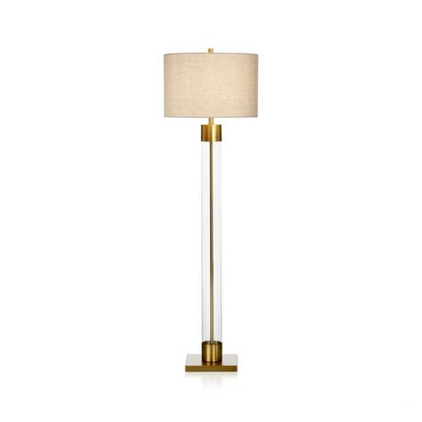 Avenue Brass Floor Lamp - Crate and Barrel