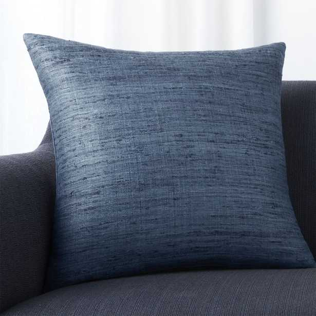 """Trevino Delfe Blue 20"""" Pillow with Down-Alternative Insert - Crate and Barrel"""