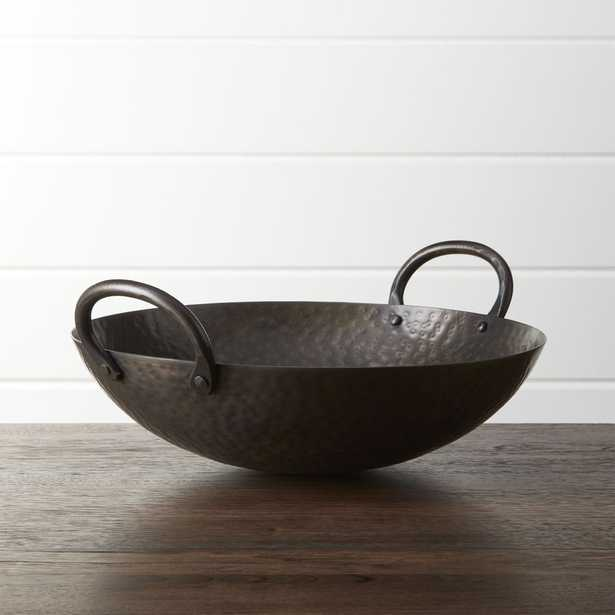 Feast Hammered Iron Serving Bowl - Crate and Barrel