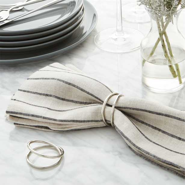 Aria Silver Napkin Ring - Crate and Barrel