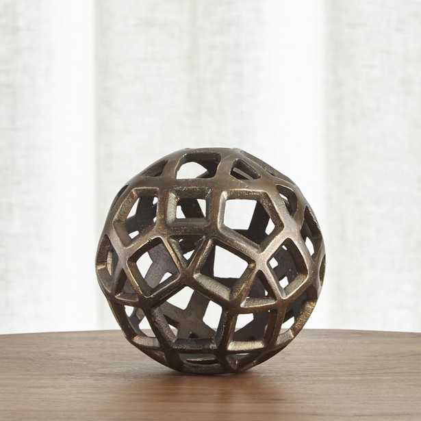 Geo Small Decorative Metal Ball - Crate and Barrel