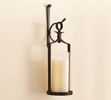 Artisanal Wall-Mount Pillar Lantern, Set of 2 - Pottery Barn