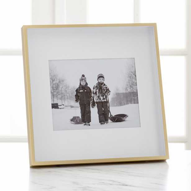 Brushed Brass Frame 8x10 - Crate and Barrel