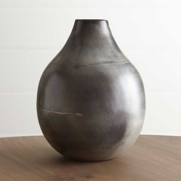 Bringham Large Metal Vase - Crate and Barrel