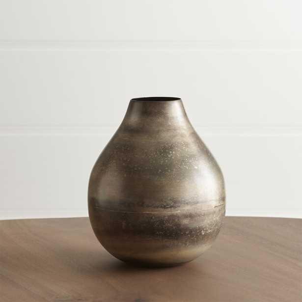 Bringham Small Metal Vase - Crate and Barrel