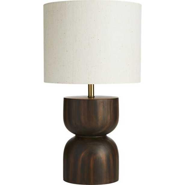 chet wood table lamp - CB2