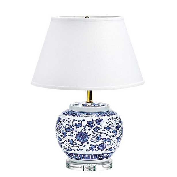 Ballard Designs Blue & White Single Round Chinoiserie Table Lamp - Ballard Designs