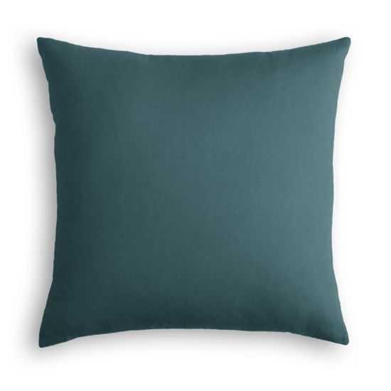 Dark Teal Velvet Pillow - 20x20 - Down Insert - Loom Decor
