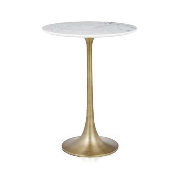 Nero White Marble Accent Table - Crate and Barrel