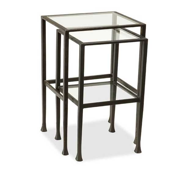 Tanner Nesting Side Tables, Bronze Finish - Pottery Barn
